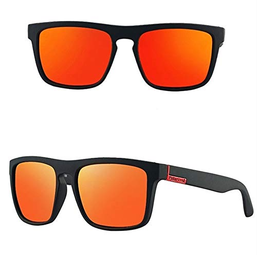 PPLAX Diseños de Gafas de Sol polarizadas de los Hombres de Lujo de conducción Sombras Hombre Gafas de Sol for los Hombres Retro Barato de conducción de los vidrios (Color : Orange Red 1)