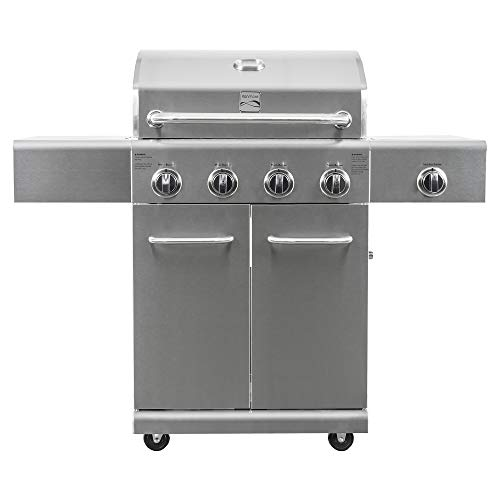Kenmore PG-40405SOL-SE-AM 4 Grill with Searing Side Burner, Steel