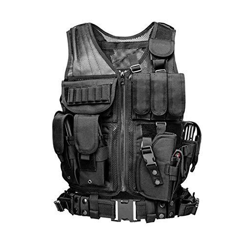 Ganmaov Weste Taktische Tactical Vest Funktionale Multitasche Taktische Einsatzweste Hohe Qualität und Haltbarkeit für Schießen Radfahren Angeln Camping CS Feld Outdoor