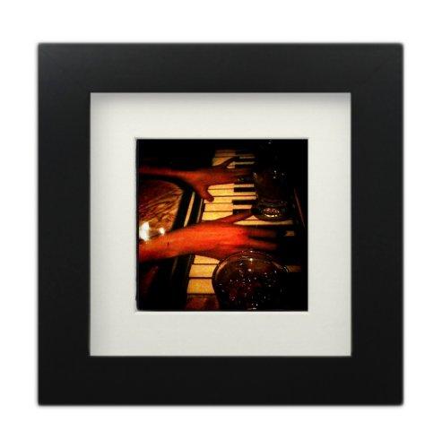 Tiny Mighty Frames - Wood Square Instagram Photo Frame, 6x6 (5.5x5.5 Window), 4x4 Mat (3.75x3.75 Window), Hanging (1, Black)