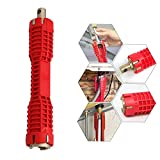 WREOW Faucet and Sink Installer,(8 in 1)Multifunctional Faucet Wrench Tool Double Head Sink Installer Tool Water Pipe Spanner Tackle For Plumbers And Homeowners (red)