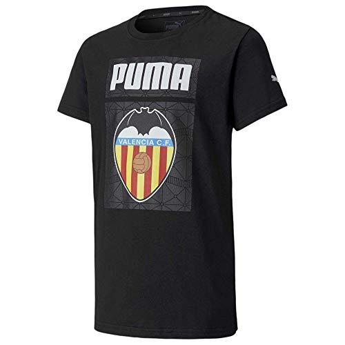 PUMA Valencia CF Temporada 2020/21-ftblCORE Graphic tee Jr Black-P Camiseta, Niño, Negro, 128