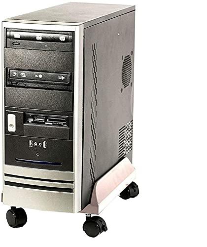 TronicXL Premium Tower Rollwagen Computer Desktop Ständer mit Rollen Universal Halter Halterung Computerständer kompatibel zb mit Medion HP Lenovo Dell shinobee Ankermann Fujitsu Intel Acer Terra