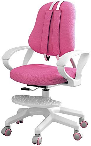Kids Desk Chairs, Kids Computer Chair, Rolling Chair, Multi-Function Adjustable Height Children's Learning Chair, Ergonomic Sitting Posture Correction Computer Chair Suitable for 3-18 Years Old (Pink)