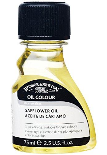 Winsor & Newton 3021756 Safloröl, verbessert den Farbfluss, Glanz und Transparenz von Ölfarben, 75ml Flasche,