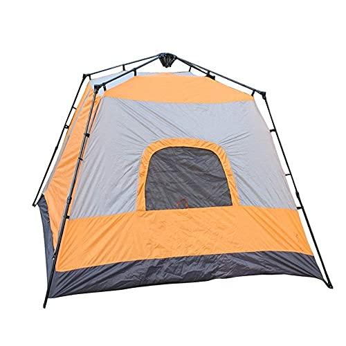 FYHH-JZHY Robustes Campingzelt Für 5-8 Personen Vier Eckige Quadratische Oberseite Automatisches Sofort-Pop-Up-Rucksackzelt Ultraleichtes Wasserdichtes Wandern Campingreisen, Sonnenschirm