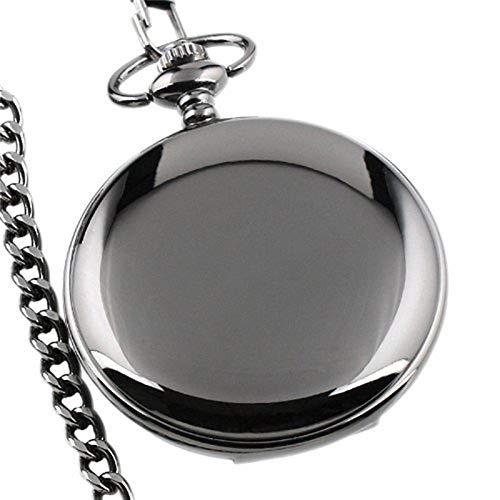 YYSD 50pcs Retro Classic Silver Polished Quartz Pocket Watch Men Pendant Chain Plain Pocket Watches Bag Clock Gift steampunk buy now online
