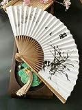 ZJSXIA Papel Plegable clásico Xuan Papel Fan de Estilo Chino...