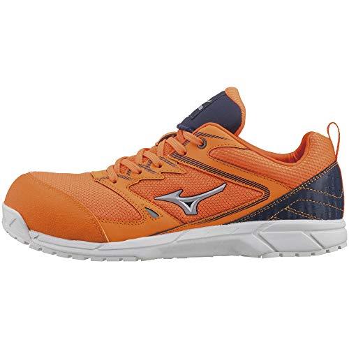 [ミズノ] 安全靴 オールマイティ VS 軽量 紐 メッシュ JSAA・普通作業用(A種) オレンジ×シルバー×ネイビー 24.5 cm 3E
