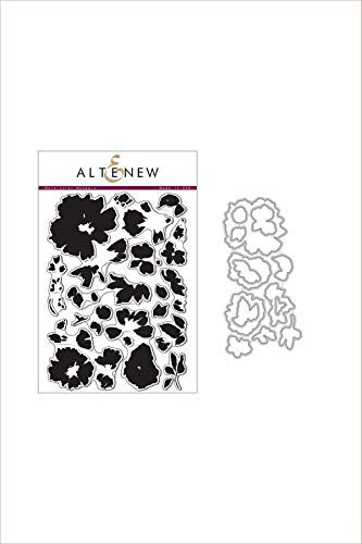 Altenew Watercolor Wonders Coordinating Clear Floral Layering Stamp Set & Die Bundle (6' x 8') for Card Making, Scrapbooking, Journaling - Beautiful Watercolor Effect - Inspired by Japanese Art