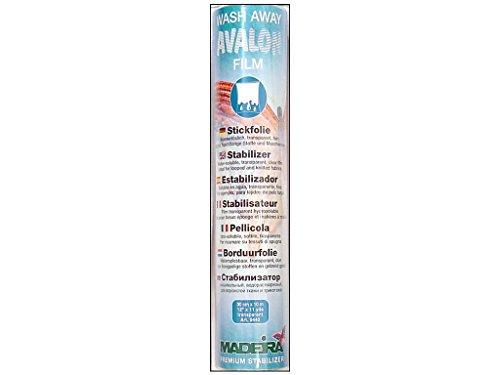 MADEIRA Avalon Film Stickfolie wasserlöslich 30 cm transparent 10 m