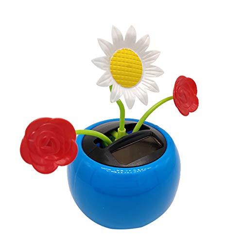 Gouen Insect Bloem Zonnebloem Dansende Swing Pop Flip Flap Toy Home Decor Auto Ornament Bloempot Figuur, A