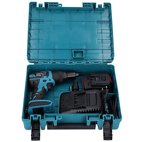 KP-LM810L Pistola remachadora eléctrica, remachadora recargable automática sin escobillas, pistola remachadora de...