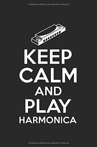 Terminplaner 2021: Terminkalender für 2021 mit Keep Calm and play Harmonica Cover | Wochenplaner | elegantes Softcover | A5 | To Do Liste | Platz für Notizen | für Familie, Beruf, Studium und Schule