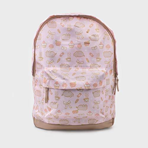 """Pusheen Poses en todo impresión mochila 13,5 """"x 18"""" Color de rosa"""