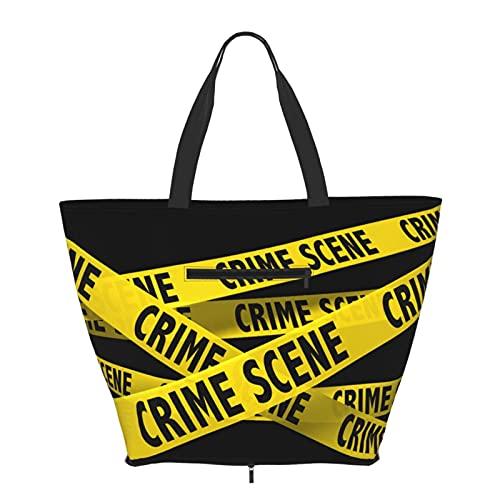 Bolsos de mujer gran bolsa de asas cinta de policía de gran capacidad bolsos de moda gimnasio deportes playa hombro bolsa