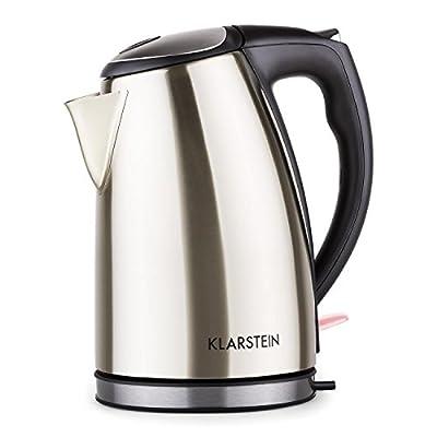 """Klarstein """"Ariela"""" - Bouilloire electrique design moderne en acier (1,7L, 2200W, poignée froide)"""