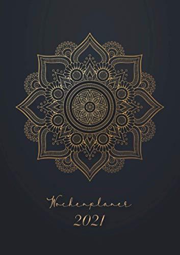Wochenplaner 2021 « Schwarzes Mandala »: Wochenplaner Taschenkalender 2021 | orientalisches Muster | Kleinformat A5 | Um alle Ihre Termine und ... bis Dezember 2021 zu notieren | 124 Seiten