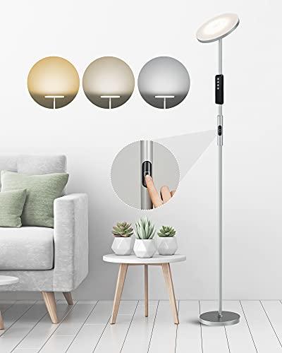 Lampara de pie LED ANTEN BELA | 30W Regulable 3 Temperaturas de Color, con Mando a Distancia Diseño Moderno | para Salón, Dormitorio, Oficina, Hotel Básico