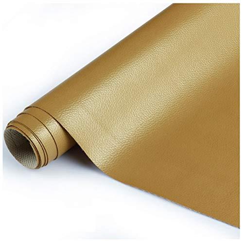 SSYBDUAN Möbelstoff Premium Bezugsstoff Zum PU Kunstleder 138 X100 cm , Kunstleder Stoff Polster Handwerk DIY Nähen Sofa Handtasche Auto Futter Autositz , Mehrfarbig (Color : 22#Gold)