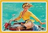 Cartel de Chapa genérico, 30 x 20 cm, Sexy, diseño de Chica Pin-up...