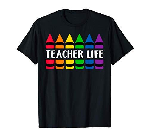 Teacher Life Crayon - CRAY Teacher T-Shirt