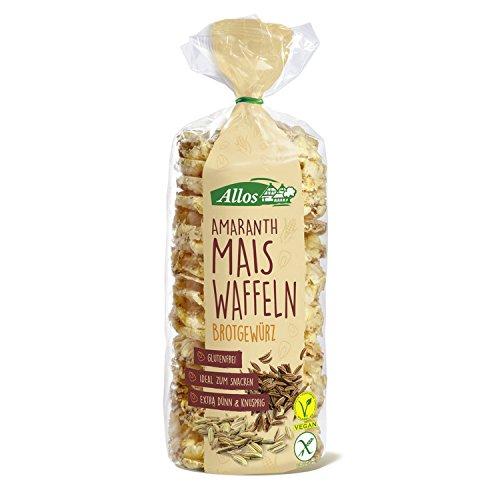 Allos Amaranth Maiswaffeln mit Brotgewürz, 100 g