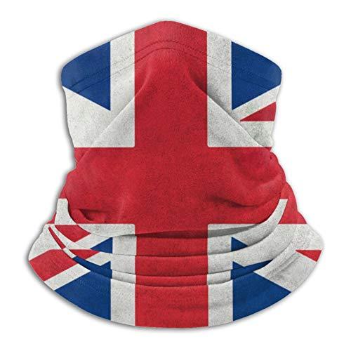 Diadema unisex con bandera británica, reutilizable, ajustable, multifuncional, al aire libre, sol, UV y polvo, informal, para el cuello, pasamontañas, bufanda impresa