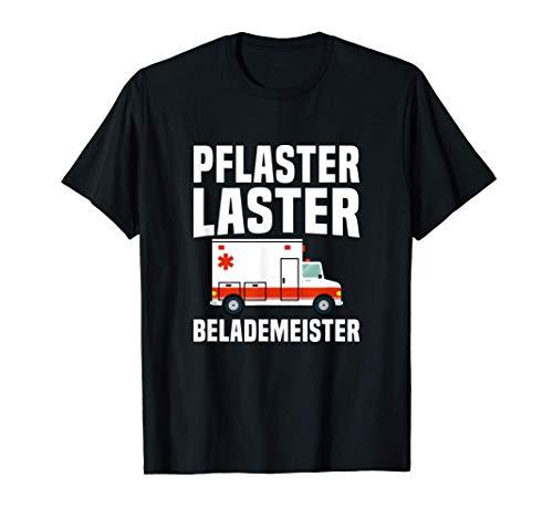 Pflaster Laster Rettungssanitäter Sanitäter Notdienst T-Shirt