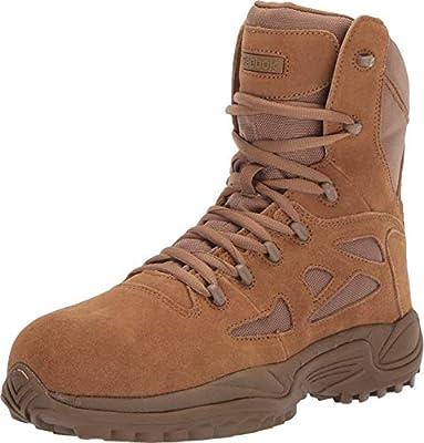 "Reebok Work Rapid Response RB 8"" Composite Toe Men's Boot (9.5 M US, Coyote)"
