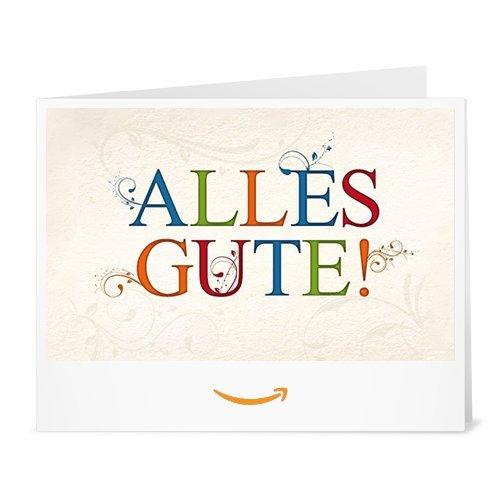 Amazon.de Gutschein zum Drucken (Alles Gute!)
