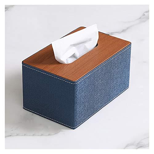 Caja para Pañuelos de Papel Titular del tejido La mejor opción para el nuevo dispensador de tejidos de cuero de cuero de la imitación de la PU de la PU adecuada para varias ubicaciones Caja de Portapa