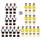 N\C 22 Piezas Jugador de fútbol de Mesa fútbol Hombre Mesa Chicos Hombre Jugador de fútbol Pieza para Piezas de Repuesto de fútbol de Mesa - Estilo 2