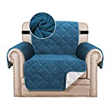 Zoyay Funda de sofá/Cubre Sofa/Protector para Sofás, Antideslizante Sofa Cover Sillón Acolchado/Chaise Longue de Funda, para Mascotas Perro o Gato antisuciedad también-Azul eléctrico_3 plazas