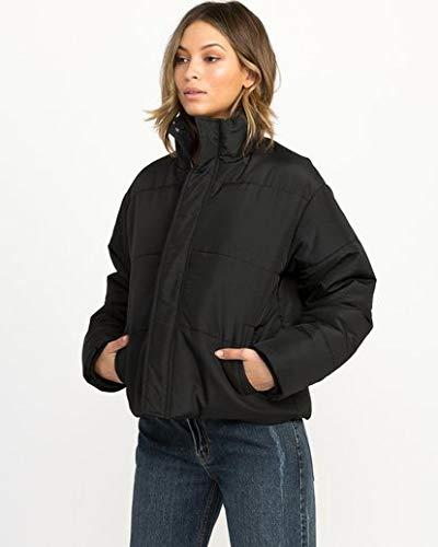 Women Black Puffer Cropped Jacket