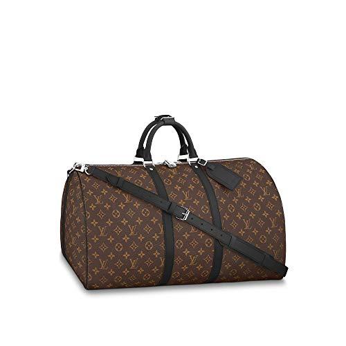 Louis Vuitton Monogram Macassar Keepall Bandouliere Travel Bag (Keepall 55)