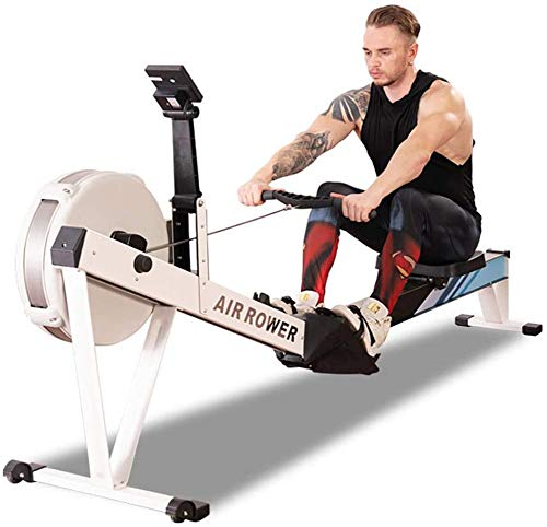 WN-PZF Rowing Machine,Wind Resistance Magnetic Control Steel Chain, Endurance Rowing Machine Abdominal Chest Arm Aerobic Fitness Equipment Suitable for Fitness Exercise,White