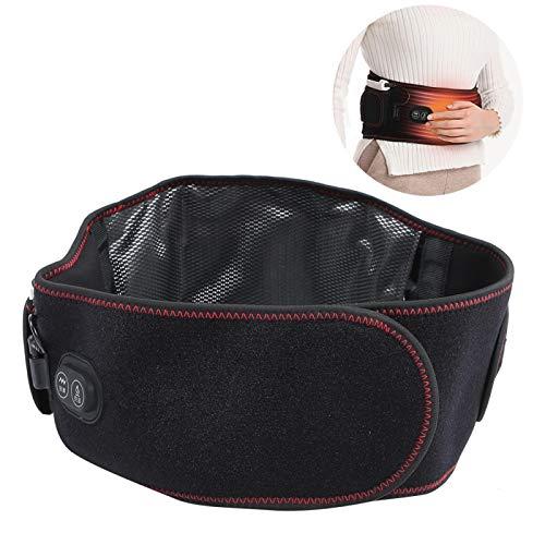 Elektrisch beheizte Massage Rückenstütze Beheizte Taille Untere Rückenriemenstütze Taille Heizkissen 3 Gänge...