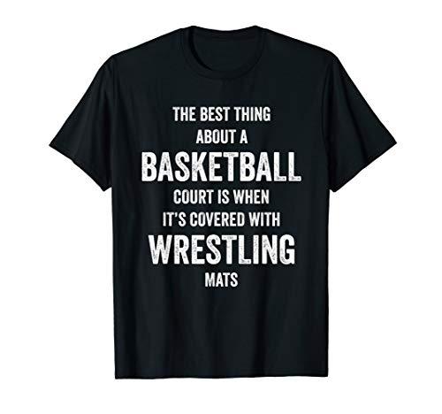 Basketball Wrestling Mats Shirt for Wrestlers, Gift, White
