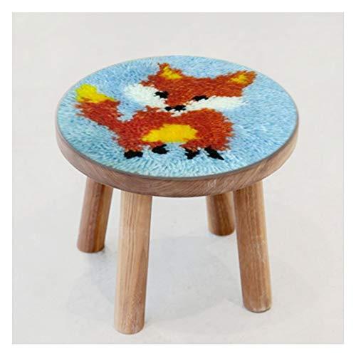 Kits artesanales de Gancho de pestillo Estera Artesanal, Almohadillas de Silla y Cojines para niños, aprenda a Kits de Crochet para niños, sin incluir Taburete de 10.6 Pulgadas x 10,6 Pulgadas