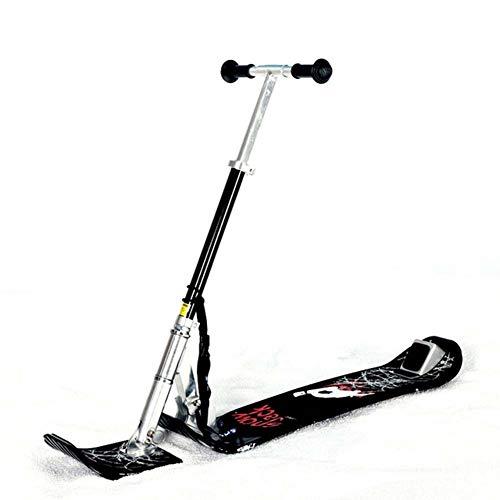 LJXiioo Trineo de Nieve para niños, Trineo de esquí, Trineo Deslizante de Nieve, Tabla de Scooter de Nieve, Kit convertidor de Scooter, Trineo de esquí