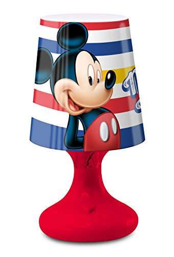 TwentyFeet Mini Lampe de Chevet à LED Mickey Disney 19 cm Rouge