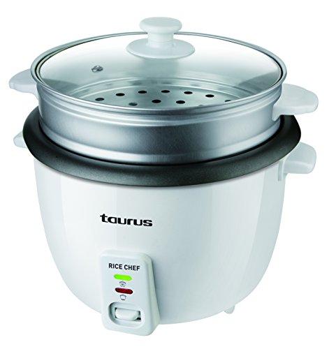 Taurus 968934000 Arrocera Rice Chef 1.8 Color Blanco, 700W. 1.8l, 700 W, 1.8 litros, 0 Decibeles, RICECHEF1.8/WH