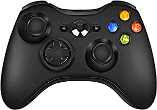 Sollop Wireless Controller for Xbox 360 PC Windows, Remote Gamepad Joystick with Receiver (Black)
