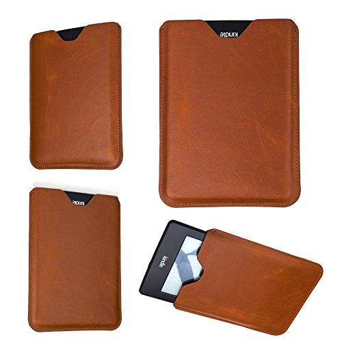 """Bear Motion Premium Slim Sleeve Case Cover for Kindle Paperwhite and The All-New Kindle Paperwhite (2012, 2013 and Current Versions with 6"""" Display) (Brown)"""