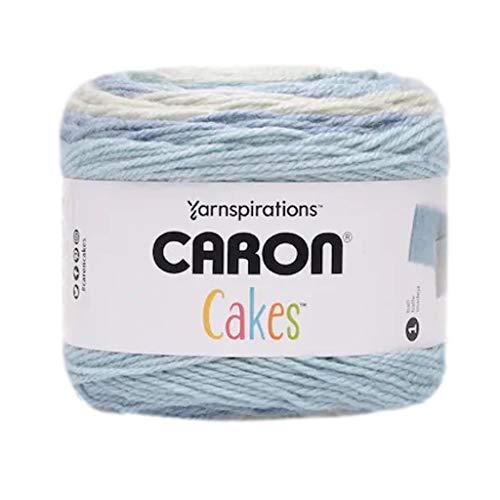 Caron Cakes Self-Striping Yarn Medium Worsted #4, 8.5 oz. / 240g, 445 Yards / 407 Meters (Iced Mint)