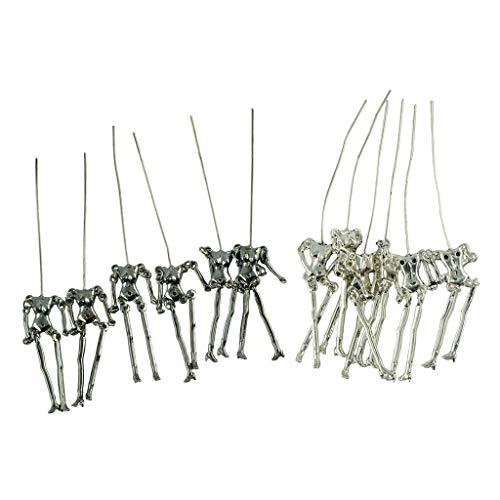 Harilla 12 Stück Neuheit Klassische Puppen Skelett Körper Anhänger Schmuck Schmuckherstellung
