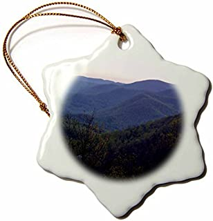 Christmas Ornament WhiteOak Photography Nature Scenes - Mountains in North Georgia - Snowflake Porcelain Ornament