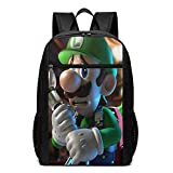 LUIGI'S MANSION 3 Sac à dos de voyage pour ordinateur portable et ordinateur portable, sac à dos de lycée, sac à dos pour garçon, anti-vol, résistant à l'eau