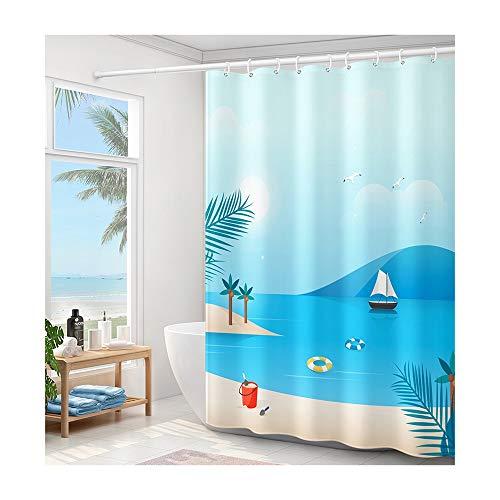 PULLEY Badezimmer-Duschvorhang-Set,...